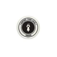 Support Singer Mini Button (10 pack)