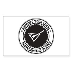 Support Shuffleboard Player Rectangle Decal