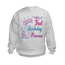 3rd Birthday Princess Sweatshirt