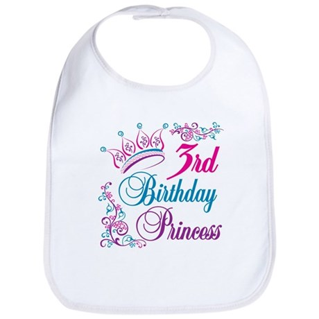 3rd Birthday Princess Bib