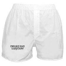 2 line text Logo Boxer Shorts