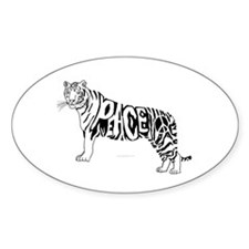 Peace tiger Oval Decal