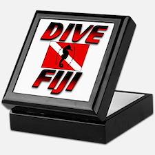 Dive Fiji (red) Keepsake Box