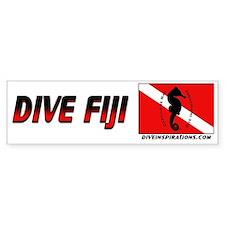 Dive Fiji (red) Bumper Bumper Sticker