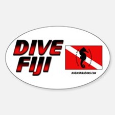 Dive Fiji (red) Oval Decal