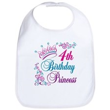 4th Birthday Princess Bib