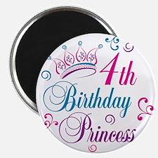 4th Birthday Princess Magnet