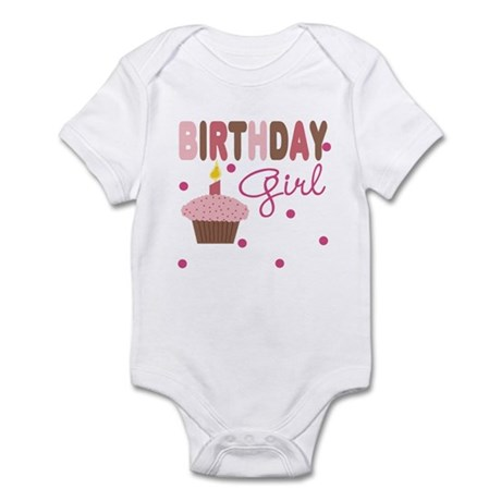 Birthday Girl Cupcake Baby Infant Bodysuit