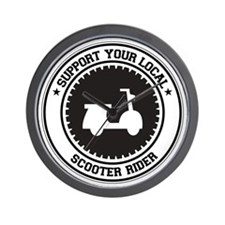 Support Scooter Rider Wall Clock