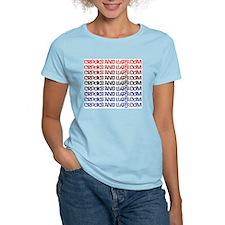 1 line text logo Women's Pink T-Shirt