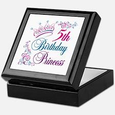 5th Birthday Princess Keepsake Box
