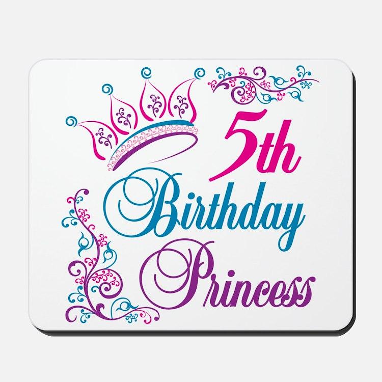 5th Birthday Princess Mousepad