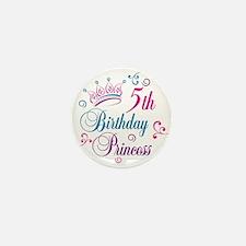 5th Birthday Princess Mini Button