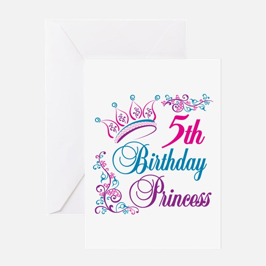 5th Birthday Princess Greeting Card