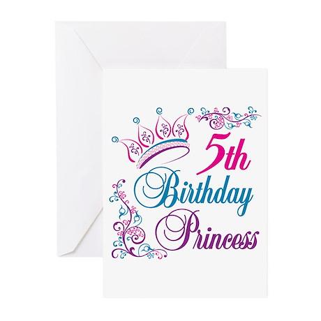 5th Birthday Princess Greeting Cards (Pk of 10)