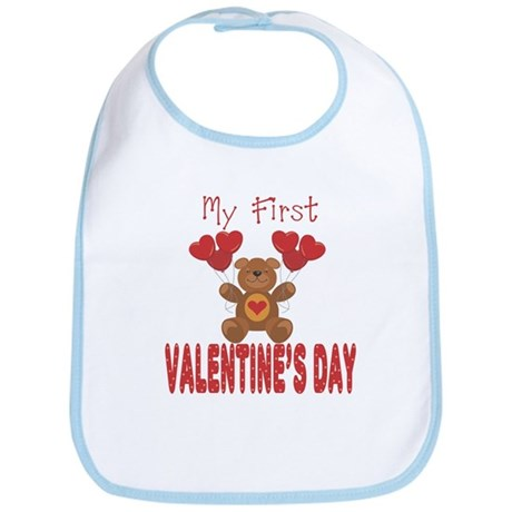 My First Valentine's Day Infant Baby Bib