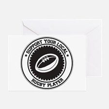 Support Rugby Player Greeting Card