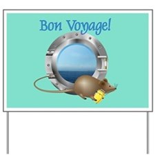 Sailing Mouse on Vacation Yard Sign