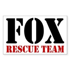 Fox Rescue Team no fur Rectangle Decal