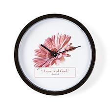 Blush Scripture Wall Clock