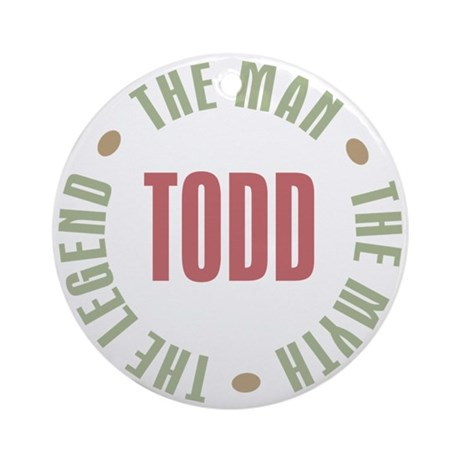 Todd Man Myth Legend Ornament (Round)