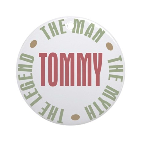 Tommy Man Myth Legend Ornament (Round)