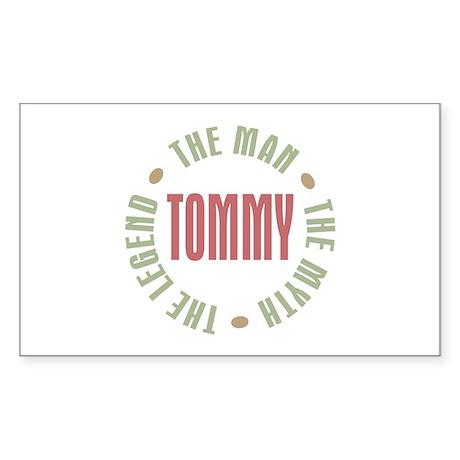 Tommy Man Myth Legend Rectangle Sticker