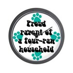 Four-paw household Wall Clock