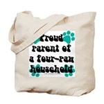 Four-paw household Tote Bag
