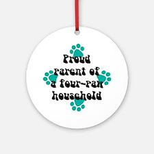 Four-paw household Keepsake (Round)