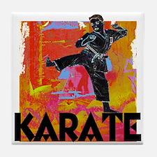 Karate Graffiti Tile Coaster