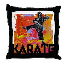 Karate Graffiti Throw Pillow