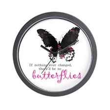 butterfly change Wall Clock