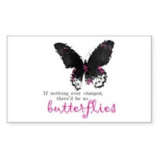 butterfly change Rectangle Decal