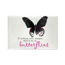 butterfly change Rectangle Magnet
