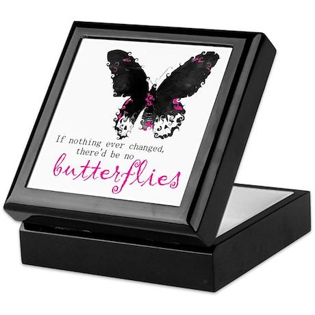 butterfly change Keepsake Box