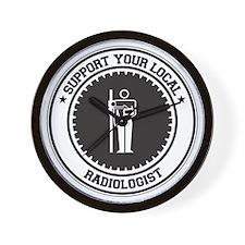 Support Radiologist Wall Clock