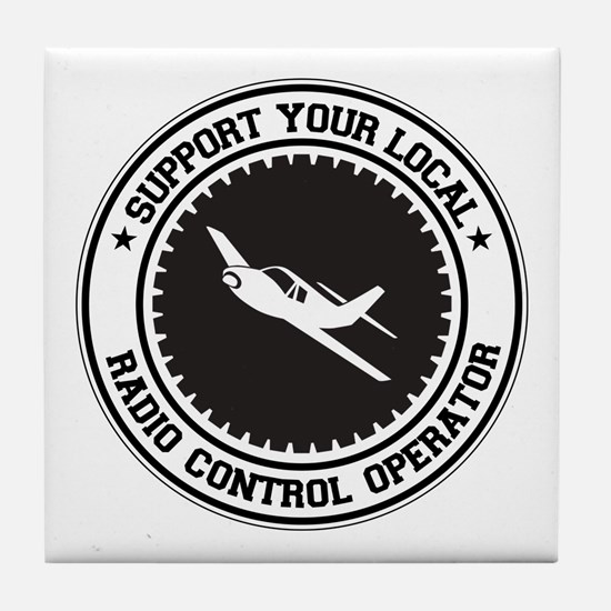 Support Radio Control Operator Tile Coaster