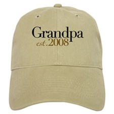 New Grandpa est 2008 Baseball Cap
