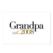 New Grandpa est 2008 Postcards (Package of 8)