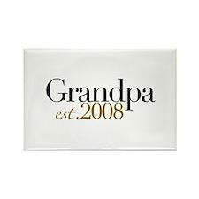 New Grandpa est 2008 Rectangle Magnet
