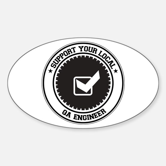 Support QA Engineer Oval Decal