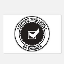 Support QA Engineer Postcards (Package of 8)
