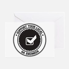 Support QA Engineer Greeting Card