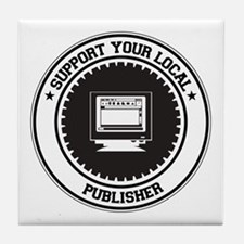 Support Publisher Tile Coaster