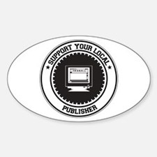 Support Publisher Oval Decal