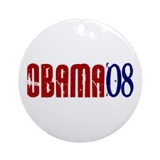OBAMA Distressed 2 Ornament (Round)