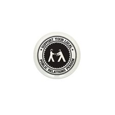 Support Public Relations Person Mini Button