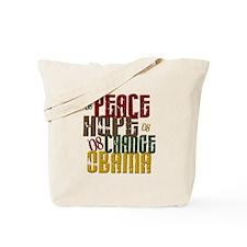 Peace Hope Change Obama 1 Tote Bag