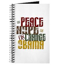 Peace Hope Change Obama 1 Journal